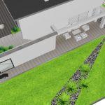 Projekt ogrodu na bazie trójkątów